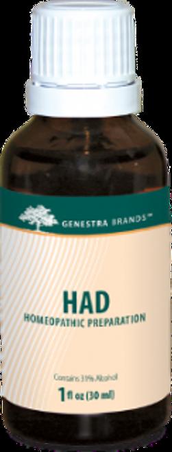 Genestra HAD Adrenal Drops 1 fl oz (30 ml)