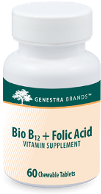 Genestra Bio B12 + Folic Acid 60 Chewable Tablets