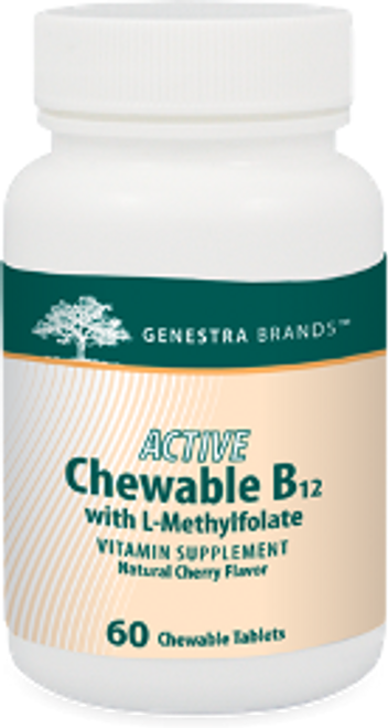 Genestra Active Chewable B12 with L-Methylfolate 60 Chewable Tablets