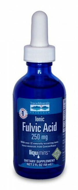 Trace Minerals Liquid Ionic Fulvic Acid with ConcenTrace 2 oz.