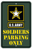Army Metal Parking Sign
