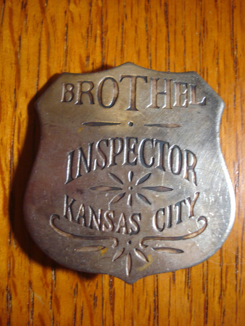 Brothel Inspector Kansas City Western Badge
