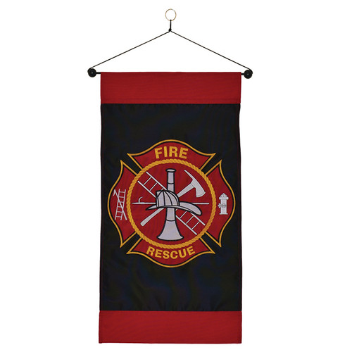 Fire Rescue Hanging Banner