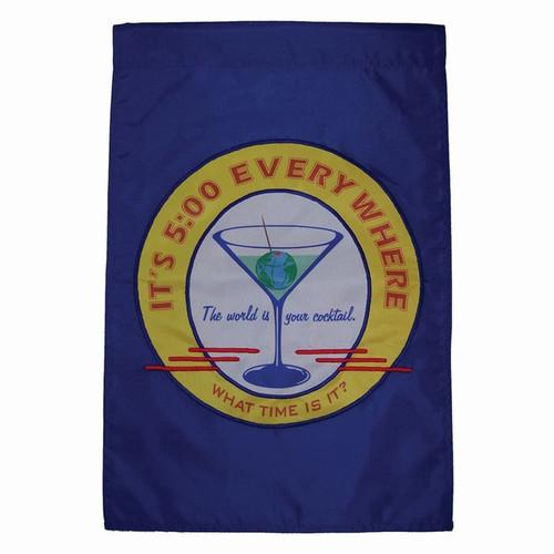 Happy Hour Retro Garden Flag
