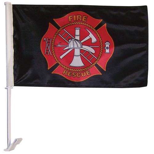 Fire Rescue Car Flag