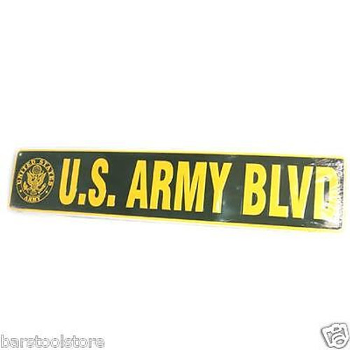 Army Blvd Metal Street Sign