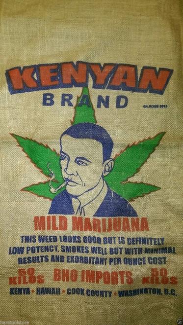 President Obama Kenyan Brand Marijuana Burlap Bag