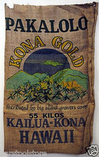 Pakalolo Kona Gold Hawaii Marijuana Burlap Bag