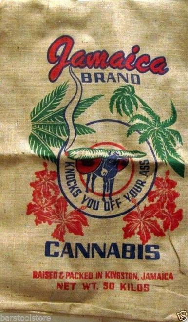 Jamaica Brand Cannabis Marijuana Burlap Bag
