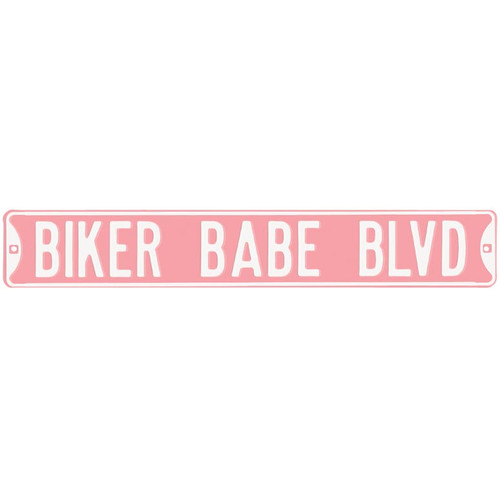 Biker Babe Blvd Street Sign