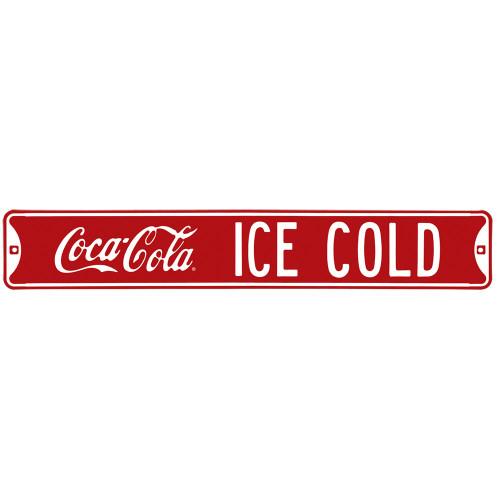 Coca-Cola Ice Cold Street Sign