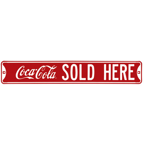 Coca-Cola Sold Here Street Sign