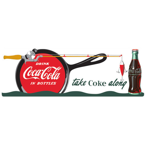Coca-Cola® Fishing Tin Sign