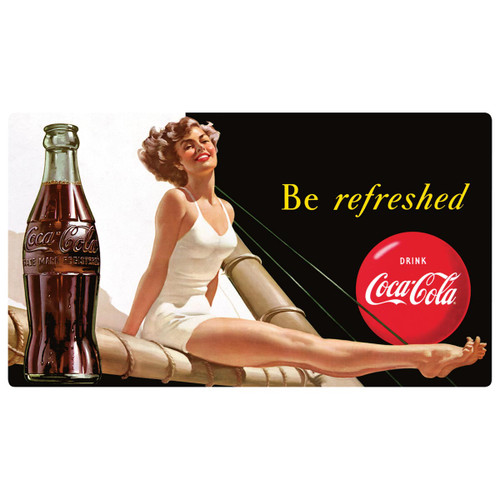 Coca-Cola® Refreshed Beauty Tin Sign
