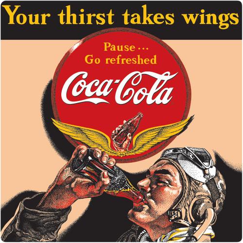 COKE® Aviator Man Tin Sign