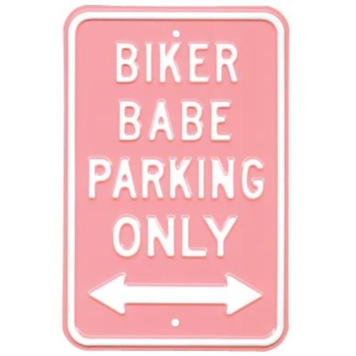 Biker Babe Parking Street Sign