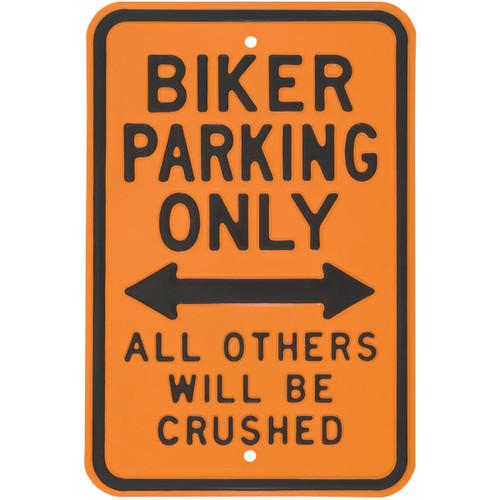 Biker Parking Only Street Sign