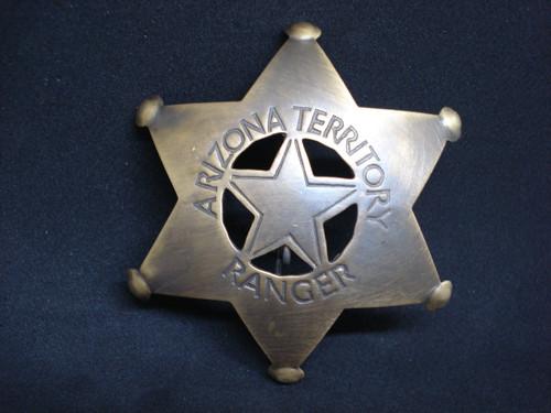 Arizona Territory Ranger Solid Brass Western Badge