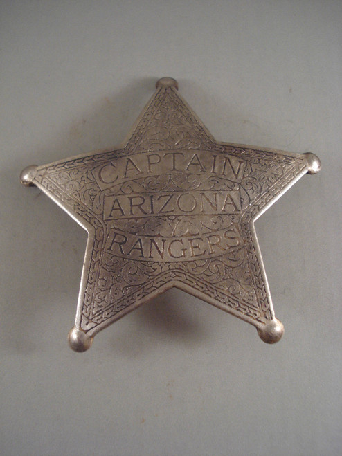 Arizona Rangers Captain Western Badge