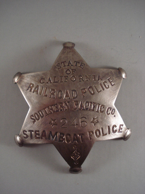 California Railroad Police #246 Steamboat Western Badge