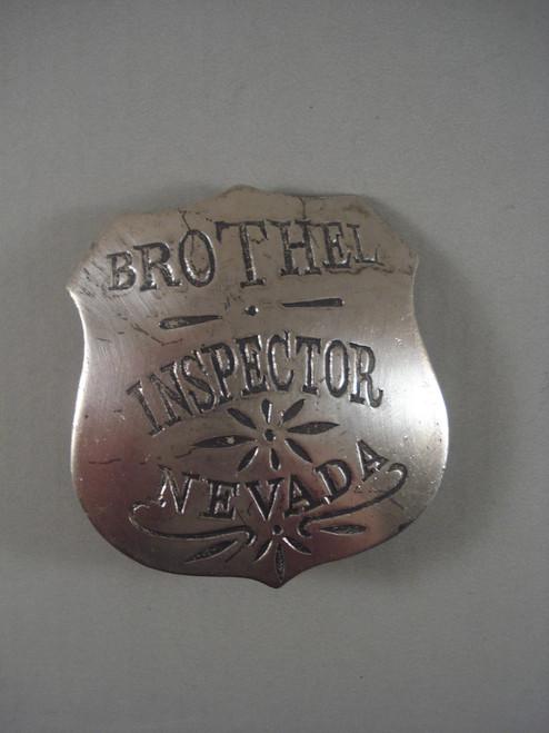 Brothel Inspector Nevada Western Badge