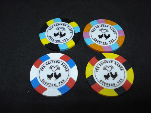 The Chicken Ranch Houston Texas Brothel Collectors Poker Chip Cathouse Whore House Orange
