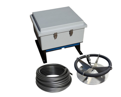 AC-LA1 Ground Mount Aeration Kit. Includes (1) DB36 Diffuser and (1) 100' Length of Self-Weighted Hose.