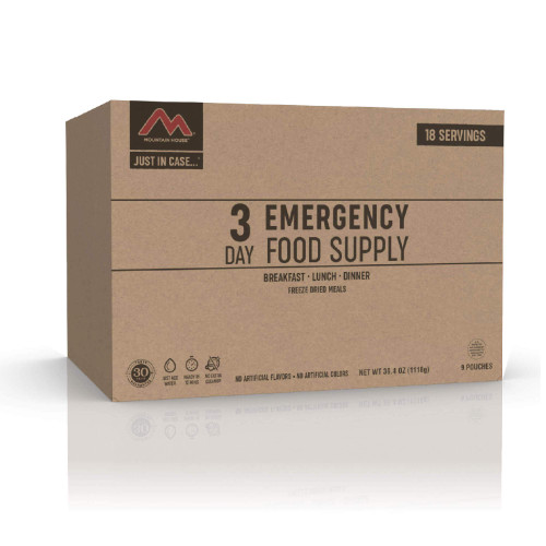 JUST IN CASE…® 3 DAY EMERGENCY FOOD SUPPLY