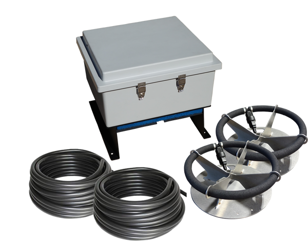 AC-LA2 Ground Mount Aeration Kit. Includes (2) DB36 Diffusers and (2) 100' Length of Self-Weighted Hose.