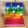 Bauspiel Stepped Colour Blocks 100 Piece Set