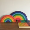 Bauspiel Large & Giant Rainbow with Acrylic Cubes