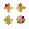 Bauspiel X-Shapes and Lucite Cubes