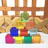 10 piece Lucite Cubes Bauspiel
