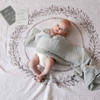 Grey Wreath Muslin Baby Wrap