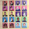 Iconic women timber tile memory game