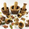 Wooden Mortar & Pestles