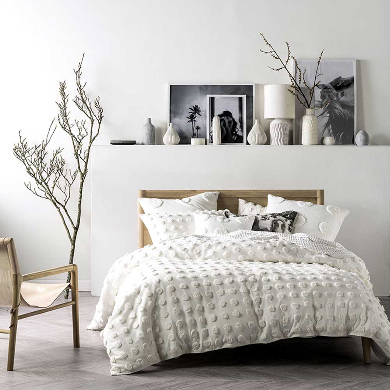 Haze White Quilt Cover Pillowcase Set Super King Linen House