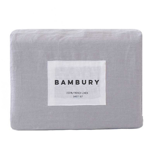 French Linen Sheet Set by Bambury|Silver