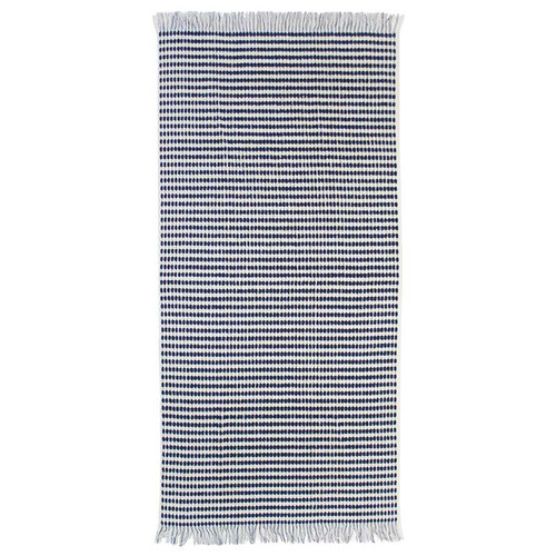 Corsica Bath Towel by Bambury|White/Navy