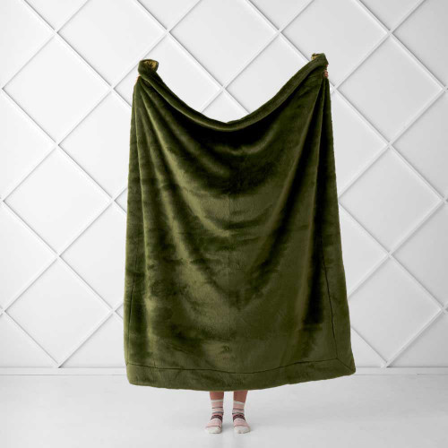 Selma Throw by Linen House|Olive