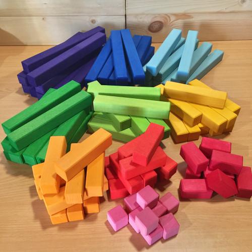 Bauspiel Stepped Colour Blocks 100 Piece Set