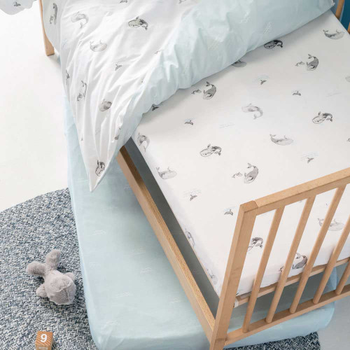 Whale of a Time 2 Pack Fitted Sheet | Cot | Hiccups