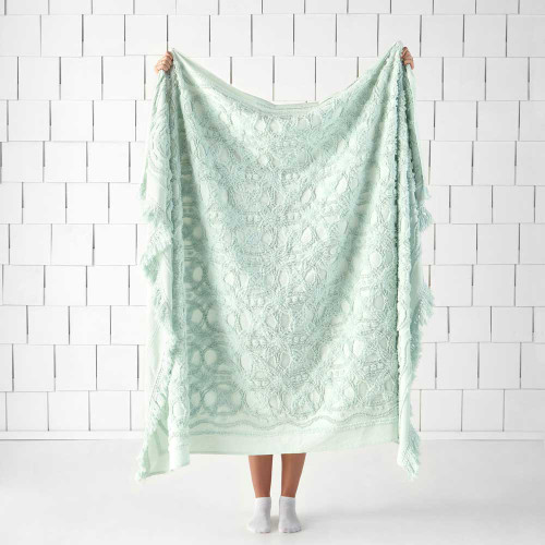 Somers Mint Throw by Linen House|