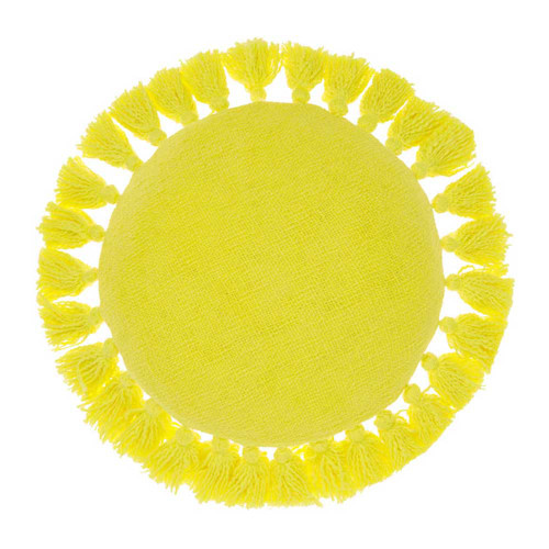 Florida Lemon Round Cushion by Linen House|