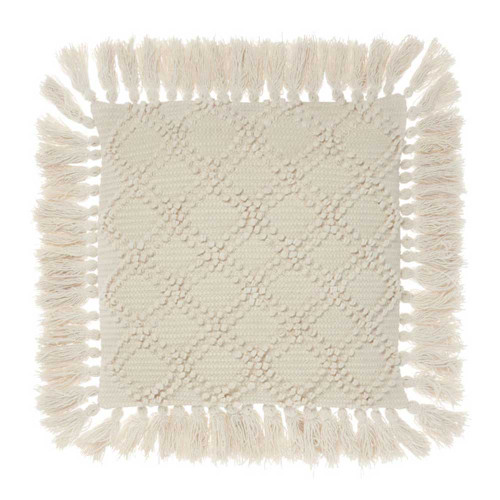 Circlet Natural Cushion by Linen House|