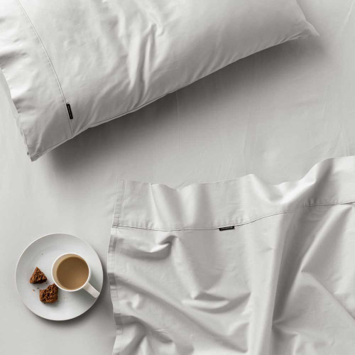 Augusta Grey Sheet Set by Linen House|