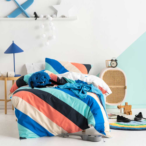 I'm With The Band Blue Quilt Cover & Pillowcase Set by Hiccups|