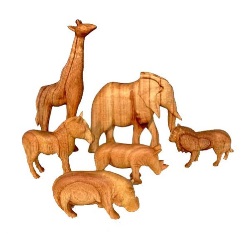 African Animals 6 Piece Set by Papoose Toys 