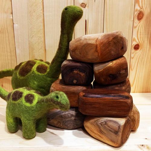 Flintstone rocks & Pebbles the Dinosaur