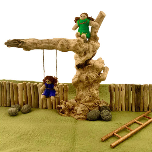 Coffee Wood Swing Set  by Papoose Toys